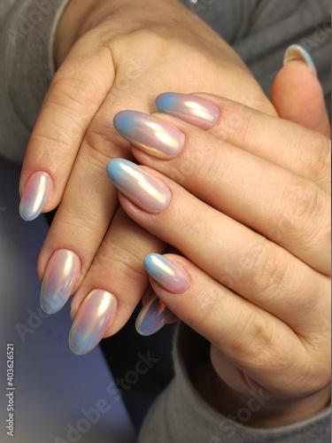Fototapeta Nail Polish. Art Manicure. Colored Nail Polish. Beauty hands.