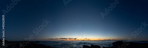 Fotomural 城ヶ島から眺めた日没の海の風景