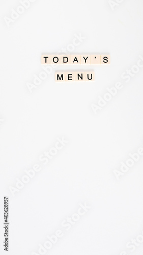 Fotografía white flat lay letter board