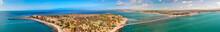 Panoramic Aerial View Of Granite Island And Victor Harbour, Australia
