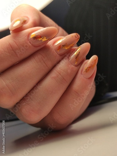 Obraz na plátně beautiful manicure of nails on the background of a fashionable