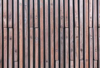 Wood slats, timber battens wall pattern surface texture.