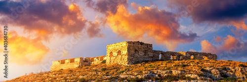 Fotografie, Obraz Cagliari, panoramic view of the ruins of the fort of Sant'Ignazio
