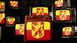 Flag of Alblasserdam and Vintage TVs.