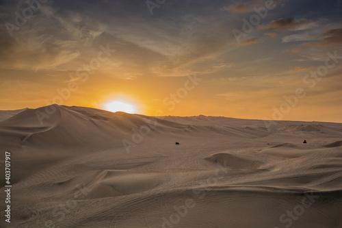 Canvas Print desert sand dunes