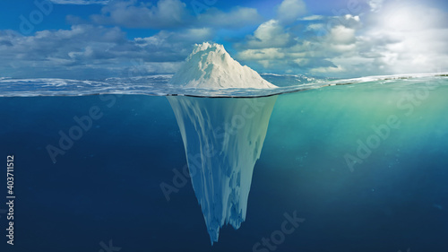 Fotografie, Obraz Iceberg Illustration