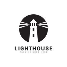 Lighthouse Logo Icon Vector Template.