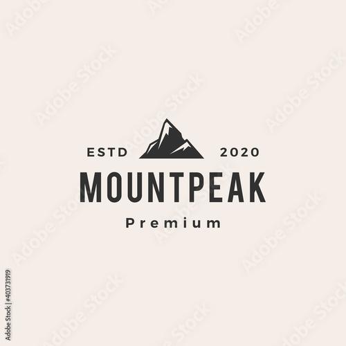 mount peak hipster vintage logo vector icon illustration Fotobehang