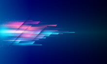 Modern Abstract High-speed Movement. Colorful Dynamic Motion On A Blue Background. Movement Sport Pattern For Banner Or Poster Design Background Concept.