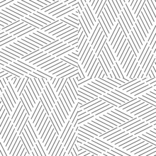 Seamless Pattern With Oblique Black Segments