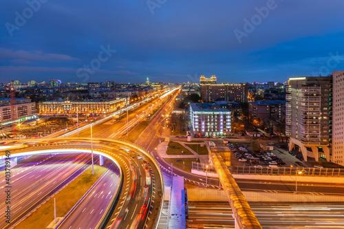 Big city lights Fotobehang