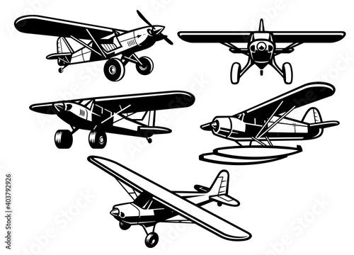 set of bush plane collection