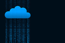 Data Streaming Cloud Computing Technology Concept Background
