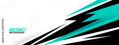 abstract turquoise geometric shapes sports background design