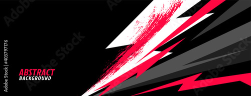 Fotografia sports background in abstract geometric shapes style