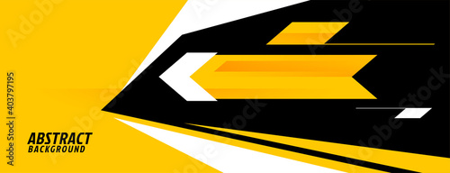 Fotografía abstract sports background in yellow geometric style