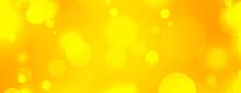 Beautiful Yellow Background With Bokeh Light Effect