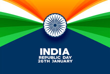 India Republic Day Background In Creaive Style