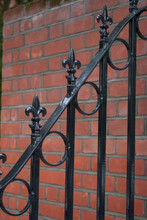 Close Up Of Fleur De Lys Detail On Wrought Iron