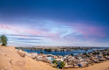A Panoramic View Of Nubia In Aswan