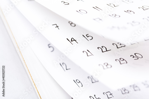 Tablou Canvas Abstract blur calendar for 2021 month schedule to make an appointment or manage