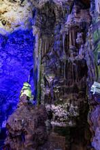 Upper Rock Nature Reserve At Gibraltar. Exploring Old St. Michaels Cave.