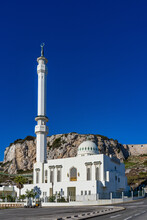 Gibraltar, United Kingdom. Ibrahim-al-Ibrahim Mosque, Europa Point, Gibraltar