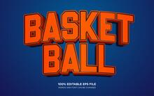 Basketball 3D Editable Text Style Effect