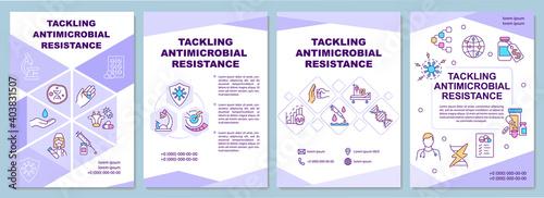 Fotografia Tackling antimicrobial resistance brochure template