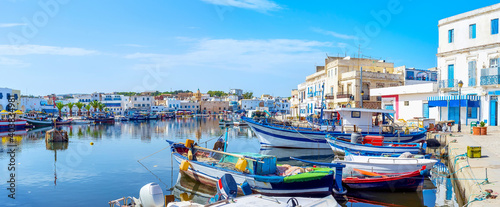 Obraz The scenic port of Bizerte, Tunisia - fototapety do salonu