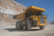 Mining Tractor Working In Open Pit