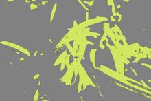 Ideogramma Astratto Verde Con Sfondo Grigio