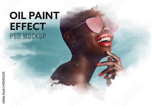 Obraz Oil Paint Effect Mockup - fototapety do salonu