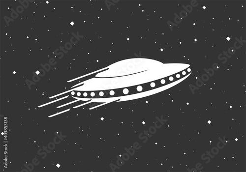 Canvas Print Creative design of spaceship illustration