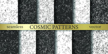 Collection Of Stars Patterns. Vector Stellar Constellation Set. Cosmic Pattern. Space Zodiacal Universe Background Set. Astronomy Astrology Objects Pack. For Design, Wrapping, Textile, Cover Etc.