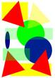 Geometrische bunte Formen Muster abstrakt