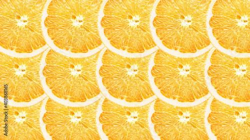 Fototapeta seamless pattern with orange slices