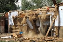 Destroyed House  After Devastating Floods.