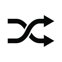Vector Illustration Shuffle Icon, Color Editable
