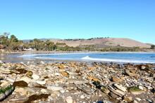 Views Of Refugio State Beach, Along The Central Coast Of California, Near Santa Barbara.
