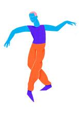 Colorful Dancer Performing