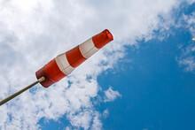 Windsock Flag. Windsock Indicator Of Wind On Runway Airport