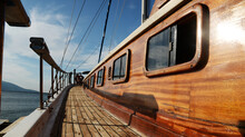 Boat Deck Against Sky