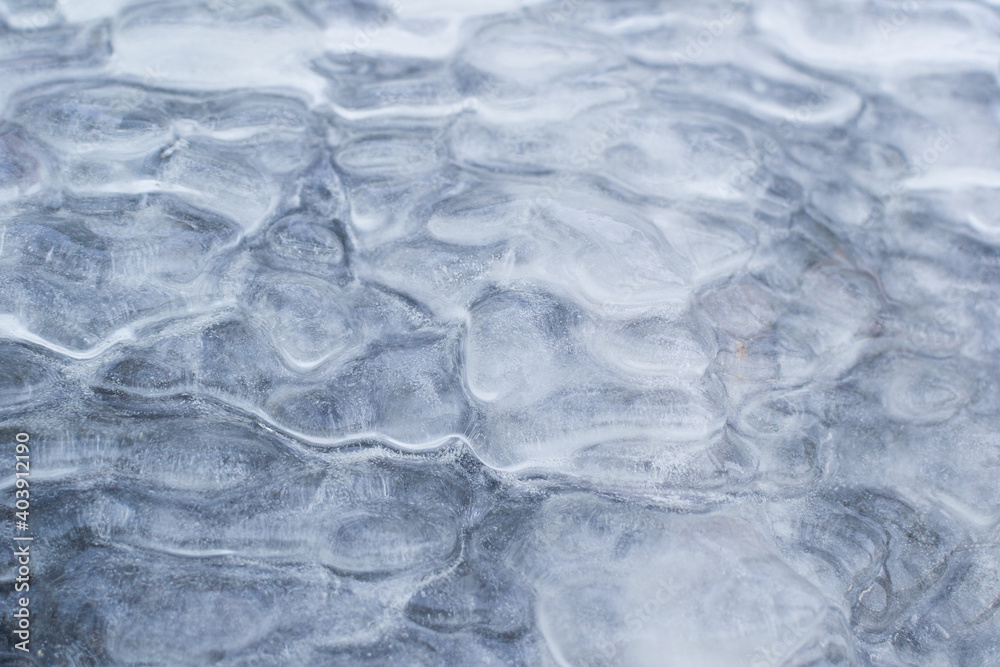 Fototapeta Ice Sheet Over Rock Surface