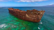 Aeria View Of Shipwreck Beach,kaiolohia, Lanai Island, Hawaii