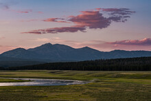 Sunset Over Hayden Valley And Yellowstone River