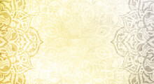 Yellow And Grey Textured Mandala Background- Colors Of The Year 2021