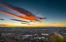 El Paso,Texas View Ay Sunrise
