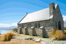 Historic Small Quaint Stone Church Of Good Sheppard