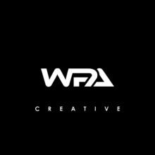 WPA Letter Initial Logo Design Template Vector Illustration